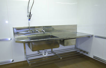 Gentil ... Custom Stainless Steel Bench U0026 Sink ...