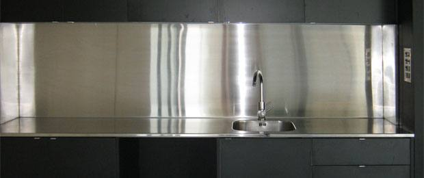 Domestic Stainless Steel Splashback & Benchtop